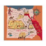 Illustrated Map of Egypt