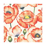 Watercolor Seamless Pattern with Poppies Hand Drawn Illustration Can Be Used for Web Page Backgrou