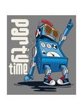 Cute Vintage Dancer Robot  Party  Vector