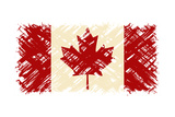 Canadian Grunge Flag Vector Illustration Grunge Effect Can Be Cleaned Easily