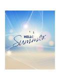 Summer Beach-Vector Background