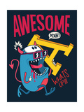 Cool Monster Vector Character Design