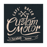 Custom Motor Typographic for T-Shirt Tee Design Poster Vector Illustration