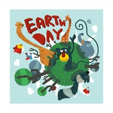 Mother Earth Day Vector Illustration Flat