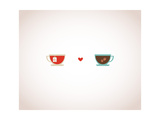 Coffee and Tea in Love Cups