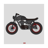 Hand Drawn Classic Motor Illustration Vector