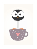 Funny Bird on a Cup Illustration
