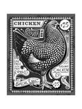 Vintage Rooster Poultry Butcher Blackboard Chicken Beef Butchery Hen Food Chalk Board Shop Retro