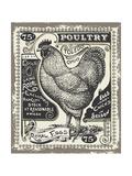 Vintage Butcher Blackboard Cut of Chicken Beef Butchery Hen Food Chalk Board Shop Retro Menu Rest