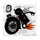 Image of Motorcycle  Which is Made in the Style of Graffiti Translation from Chinese - Chinese Qual