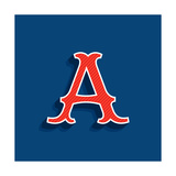 Letter A Logo in Classic Sport Team Style Font Typography for Your Posters  Sportswear  Club T-Shi