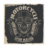 Skull Motorcycle Graphic Design