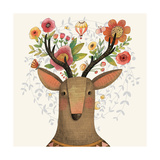 Incredible Deer with Awesome Flowers Lovely Spring Concept Design in Vector Sweet Deer and Flower