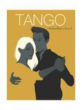 Young Couple Dancing Tango