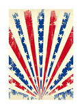 USA Brushed Sunbeams A Vintage American Poster with a Texture