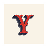 Y Letter Logo in Vintage Western Style Vector Font for Labels  Posters Etc