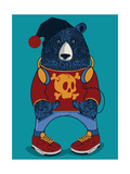 Cool Bear Character Vector Design for Tee