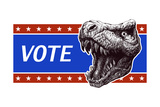 Vote - Presidential Election Poster with Trex Head Vector Illustration