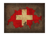 Switzerland Country Flag Map