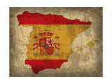 Spain Country Flag Map