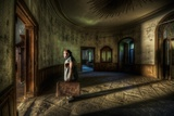 Male Figure in Abandoned Building