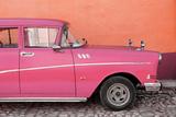 Cuba Fuerte Collection - Close-up of Retro Dark Pink Car