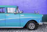 Cuba Fuerte Collection - Close-up of Retro Turquoise Car