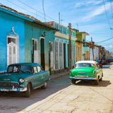 Cuba Fuerte Collection SQ - Green Cars in Trinidad