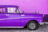 Cuba Fuerte Collection - Close-up of Retro Purple Car