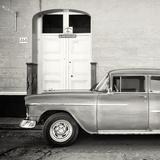 Cuba Fuerte Collection SQ BW - Retro Classic Car Trinidad