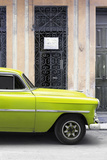Cuba Fuerte Collection - Lime Green Classic Car