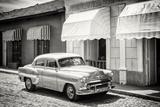 Cuba Fuerte Collection B&W - Classic American Car