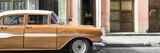 Cuba Fuerte Collection Panoramic - Old Classic American Orange Car
