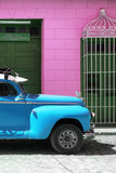 Cuba Fuerte Collection - Close-up of Skyblue Vintage Car