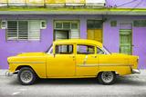 Cuba Fuerte Collection - Classic American Yellow Car in Havana