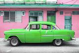 Cuba Fuerte Collection - Classic American Green Car in Havana