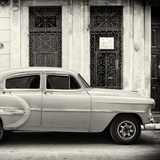 Cuba Fuerte Collection SQ BW - Old Bel Air Classic Car