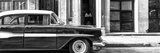 Cuba Fuerte Collection Panoramic BW - Old Classic American Car II