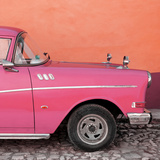 Cuba Fuerte Collection SQ - Close-up of Retro Dark Pink Car