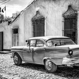 Cuba Fuerte Collection SQ BW - Classic American Car in Trinidad II