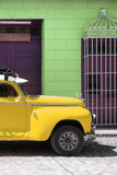 Cuba Fuerte Collection - Close-up of Yellow Vintage Car