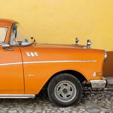 Cuba Fuerte Collection SQ - Close-up of Retro Orange Car