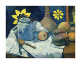 Still Life with Teapot and Fruit  1896