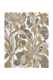 Painted Tropical Screen I Gray Gold Crop