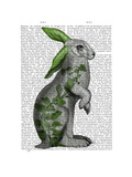 Hare with Green Ears Reproduction d'art par Fab Funky