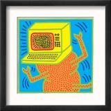 Untitled Pop Art Poster encadré par Keith Haring