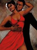 Fantasy in Red Reproduction d'art par Monica Stewart