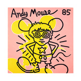 Andy Mouse 1985 Reproduction d'art par Keith Haring
