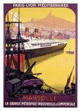 Marseille, métropole industrielle Giclée par Roger Broders