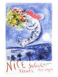 Chagall Nice, soleil, fleurs Giclée par Marc Chagall